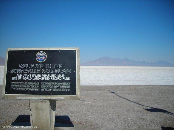 Salt Flats sign