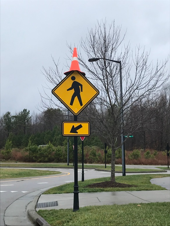 cone on sign 2